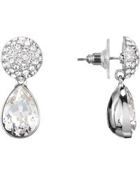 Nina Swarovski Crystal Drop Earrings - Multicolor