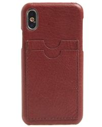 Madewell - Card Slot Leather Iphone X/xs Case - - Lyst