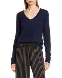 ATM Cashmere V-neck Sweater - Blue