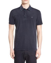 John Varvatos - 'peace' Slim Fit Polo - Lyst