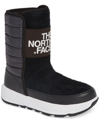 The North Face - Ozone Park Winter Pull-on Boot (tnf Black/tnf White) Women's Cold Weather Boots - Lyst