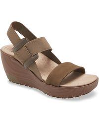 Otbt Cleah Platform Wedge Sandal - Brown