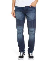 True Religion - Rocco Biker Skinny Fit Jeans - Lyst
