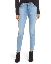 7 For All Mankind - 7 For All Mankind Embellished & Ripped Ankle Skinny Jeans - Lyst