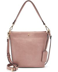 Sole Society Beryl Faux Leather Bucket Bag - Pink