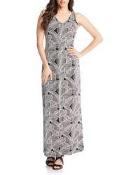 Karen Kane - Leaf Print Maxi Dress - Lyst