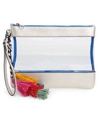 Vince Camuto - Thore Clear Tassel Wristlet Clutch - - Lyst