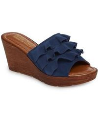 Bella Vita | Bey Platform Wedge Sandal | Lyst