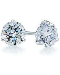 Kwiat - 1ct Tw Diamond & Platinum Stud Earrings - Lyst