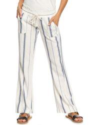 Roxy - Oceanside Linen Blend Pants - Lyst