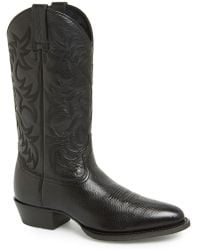 Ariat 'heritage' Leather Cowboy R-toe Boot - Black