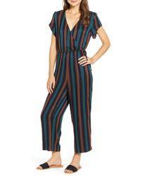 Madewell - Stripe Short Sleeve Wrap Jumpsuit - Lyst