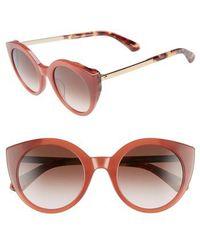 Kate Spade - Norinas 50mm Cat Eye Sunglasses - Burgundy Havana - Lyst