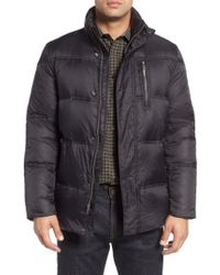 Cole Haan - Quilted Jacket With Convertible Neck Pillow - Lyst