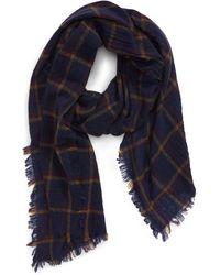 Madewell Northall Plaid Wool Scarf - Blue