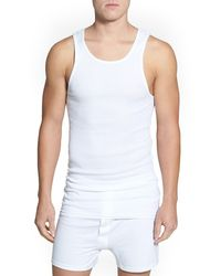 Nordstrom 4-pack Supima Cotton Athletic Tanks, White