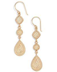 Anna Beck - Two-tone Linear Drop Earrings - Lyst