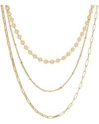 Panacea Triple Layer Chain Necklace - Metallic