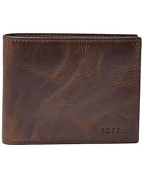 Fossil - 'derrick' Rfid Leather Bifold Wallet - Lyst