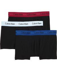 Calvin Klein - 3-pack Stretch Cotton Low Rise Trunks, Black - Lyst