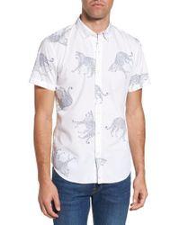 Bonobos   Slim Fit Cheetah Print Sport Shirt   Lyst