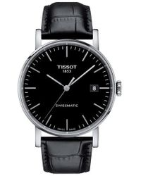 Tissot - Everytime Swissmatic Leather Strap Watch - Lyst