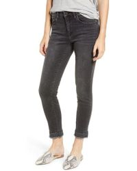 Mavi Jeans - Tess Embroidered Frayed Ankle Jeans - Lyst