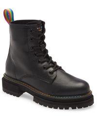 Kurt Geiger - Birdie Rainbow Combat Boot - Lyst