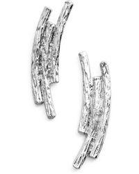 Karine Sultan - Three Row Drop Earrings - Lyst