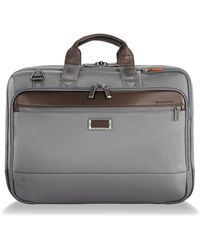 Briggs & Riley @work Large Expandable Ballistic Nylon Laptop Briefcase With Rfid Pocket - Gray