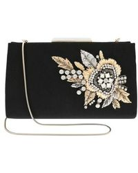 Badgley Mischka Generous Embellished Clutch - Black
