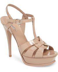Saint Laurent Tribute Platform Sandals - Pink