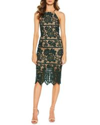 Bardot - Mila Halter Lace Dress - Lyst
