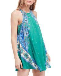 Free People - Darjeeling Print Minidress - Lyst