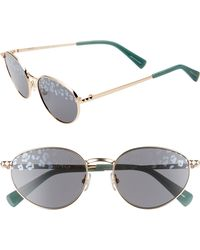 Rebecca Minkoff Stevie1 54mm Oval Sunglasses - Light Gold - Metallic