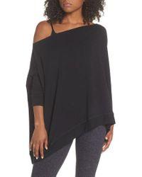 Beyond Yoga - 'cozy' Convertible Fleece Pullover - Lyst