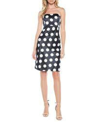 Bardot - Sayer Dotted Tie Back Strapless Dress - Lyst