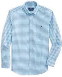 Vineyard Vines Tucker Classic Fit Gingham Button-down Shirt - Blue