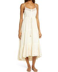 Raga Rashel Sleeveless Tie Waist Dress - Natural