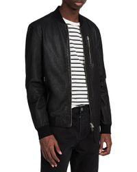 AllSaints - Kino Leather Bomber Jacket - Lyst
