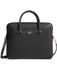 Kate Spade Saffiano Leather Laptop Bag - Gray