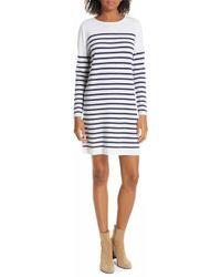 Allude - Breton Stripe Cashmere Sweater Dress - Lyst