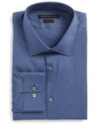 John Varvatos   Regular Fit Stretch Dobby Dress Shirt   Lyst