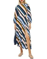TOPSHOP - Open Back Midi Dress - Lyst