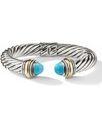 David Yurman - Cable Classics Bracelet With Turquoise And 14k Gold - Lyst