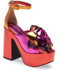 Jeffrey Campbell Candice Platform Sandal - Metallic