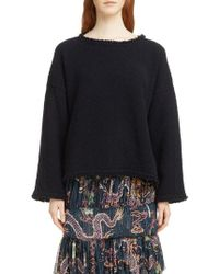 Isabel Marant - Farley Fray Edge Wool & Cashmere Blend Sweater - Lyst