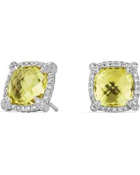David Yurman - Châtelaine® Pave Bezel Stud Earring With Gemstone And Diamonds - Lyst