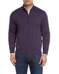 Cutter & Buck - 'douglas' Quarter-zip Wool Blend Sweater - Lyst