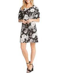 Karen Kane - Ruffle Sleeve Floral Dress - Lyst